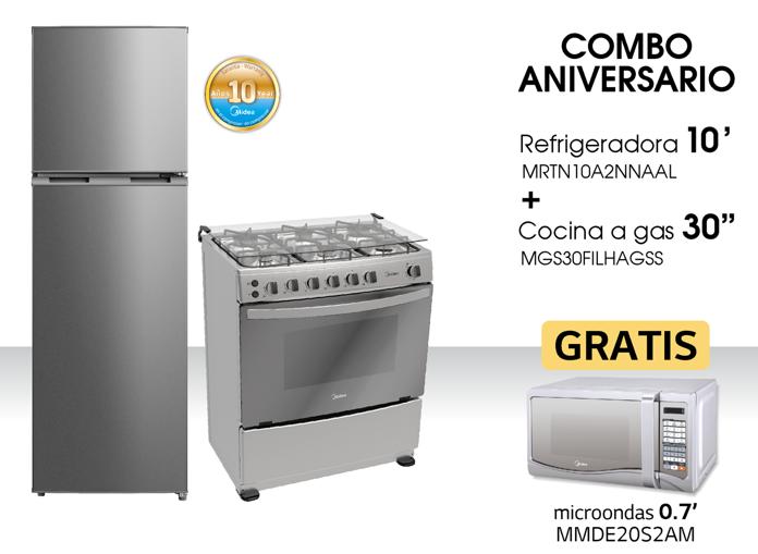 Combo Midea (Refrigeradora + Cocina)