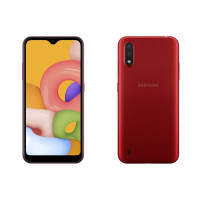 Teléfono Galaxy A01 Rojo